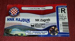 HAJDUK SPLIT- NK ZAGREB 2009. - Match Tickets