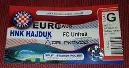 HAJDUK SPLIT- FC UNIREA URZICENI ROMANIA - Match Tickets
