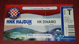 HAJDUK SPLIT- NK DINAMO ZAGREB 2010. - Match Tickets