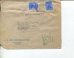 (100) Netherlands Cover Posted To Australia - Periode 1891-1948 (Wilhelmina)