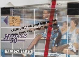 TELECARTE 50..DIMANCHE 12 AOUT 1990 A 19 HSTADE LOUIS 11  MONACO..MEETING INTERNATIONAL D'ATHLETISME NEUVE SOUS BLISTER - Monaco