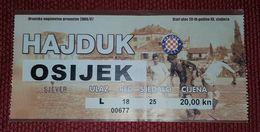 NK HAJDUK SPLIT- NK OSIJEK 2006/07 - Match Tickets