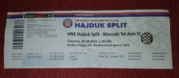 NK HAJDUK SPLIT- MACCABI TEL AVIV F.C. - Match Tickets