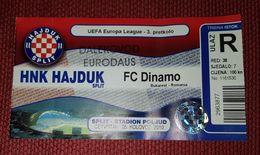 NK HAJDUK SPLIT- DINAMO BUCUREŞTI F.C. ROMANIA - Match Tickets