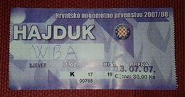 NK HAJDUK SPLIT- WEST BROMWICH ALBION F.C. - Match Tickets