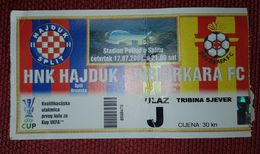 NK HAJDUK SPLIT- BIRKIRKARA F.C. MALTA - Tickets D'entrée