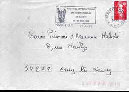 FRANCE  Lettre 1995 Nancy Choral Musique - Music