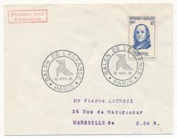 FRANCE => Enveloppe Scotem - Cachet Secondaire Timbre FRANKLIN - Salon De L'Enfance 10 Nov 1956 Paris - FDC