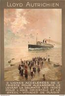 Navigation Lloyd Autrichien Lignes De Trieste Pour Les Indes L'Asie Et Le Brézil - Postcard - Poster Reproduction - Publicité