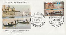 Enveloppe  FDC   1er  Jour   HAUTE  VOLTA   UNESCO   Pour   VENISE   1972 - UNESCO