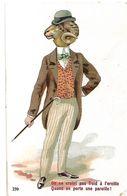 ANIMAUX HUMANISES HABILLES BELIER EN COSTUME 1913 CPA 2 SCANS - Animaux Habillés