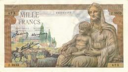 H33 - FRANCE - Billet De 1000 Francs Déesse DEMETER - 1871-1952 Anciens Francs Circulés Au XXème