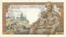 H33 - FRANCE - Billet De 1000 Francs Déesse DEMETER - 1 000 F 1942-1943 ''Déesse Déméter''