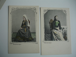 Islande Ice Land Lot 2 Carte Colorisee Femme Stautbuningur Et Hufubuningur - Islande