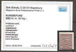 78 Y By Postfrisch - Kurzbefund D. Schulz BPP - Zone Soviétique