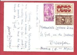 Y&T N°519+534+532   TORINO      Vers  FRANCE 1948  2 SCANS - 6. 1946-.. República