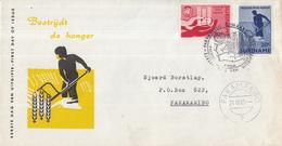 Suriname - FDC E25 - Anti-hongeractie Verenigde Naties - NVPH 394 - 395 - Suriname ... - 1975