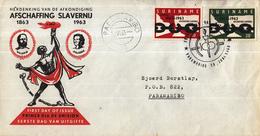 Suriname - FDC E26 - 100 Jaar Afschaffing Slavernij - NVPH 396 - 397 - Suriname ... - 1975