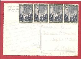 Y&T N°135X4 VATICAN   Vers  FRANCE 1955  2 SCANS - Vatican