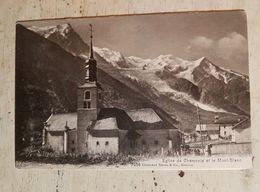 74 - CPA CHAMONIX  - Eglise De Chamonix Et Le Mont-Blanc (Charnaux Frères & Co, 7056) - Chamonix-Mont-Blanc