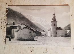 74 - CPA Animée CHAMONIX  - Le Mont-Blanc Et Le Village D'Argentière ( Giletta, 2640) - Collection Artistique - Chamonix-Mont-Blanc