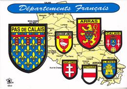 BLASON ECUSSON ADHESIF DU PAS DE CALAIS  ARRAS XALAIS SAINT OMER BETHUNE LENS - Frankreich