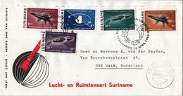 Suriname - FDC E30 - Stichting Lucht- En Ruimtevaart Suriname - NVPH 405-409 - Suriname ... - 1975