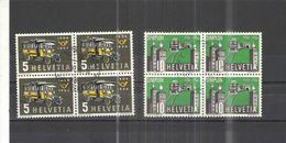 Svizzera PO 1956 Post Bus  Block.da 4 +Scott.355+356+ See Scans - Gebraucht