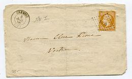 ISERE De CREMIEU PC 1024 Sur N°13 Sur Imprimé Du Juge De Paix Du 08/11/1856 - 1849-1876: Klassik