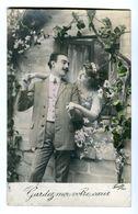 CPA - Carte Postale - Belgique - Fantaisie - Couple Homme Femme - Gardez-moi Votre Coeur  (F90) - Women