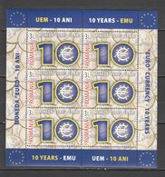 Z270 2009 ROMANIA CULTURE MONEY COINS MONEDA EURO 10 YEARS 1KB MNH - EU-Organe