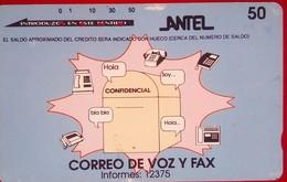 50 Units Correo De Voz Y Fax - Uruguay