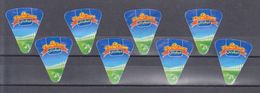 AC -  THE TWO COWS TRIANGLE TRIANGULAR CREAM CHEESE LABELS 8 PIECES - Cheese