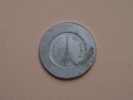 Souvenir De PARIS - VIOLETTE Mon Seul Amour ( France ) ( Voir Photo Svp ) - Pièces écrasées (Elongated Coins)