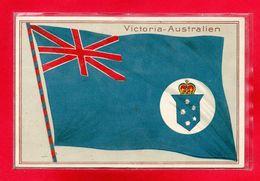 AUSTRALIE-CPA VICTORIA - AUSTRALIA - DRAPEAU - Australie
