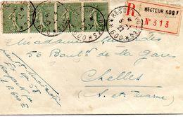 1922 Chelles Recommander Trésor Et Poste - Frankrijk