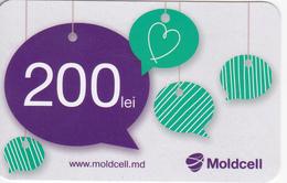 Moldova , Moldavie  Moldau , Prepaid  Phonecard - Moldcell , Type 2,  200 Lei , Paper , Used - Moldova