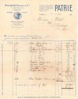 69 LYON SAIGON HANOI FACTURE 1925 Fil De Lin Sur Carte PATRIE PACHOD Frères     * Z46 - 1900 – 1949