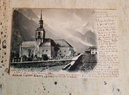 74 - CPA Précurseur Rare, Unique CHAMONIX  - L'Eglise Et Le MontBlanc (Photoglob,2727) - Chamonix-Mont-Blanc