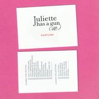 Juliette Has A Gun  R/V   . - Cartes Parfumées