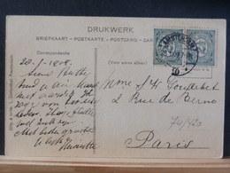 74/420   BRIEFKAART     NED.   NAAR   PARIJS  1909 - Periode 1891-1948 (Wilhelmina)