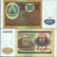 Tadschikistan Pick-Nr: 6a Bankfrisch 1994 100 Rubles - Tadjikistan
