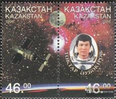 Kazakhstan 134-135 Couple (complete Issue) Unmounted Mint / Never Hinged 1996 Spaceflight Of T. Aubakirow - Kazakhstan
