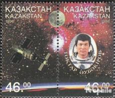 Kasachstan 134-135 Paar (kompl.Ausg.) Postfrisch 1996 Raumflug Von T. Aubakirow - Kasachstan