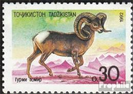 Tadschikistan 4 (kompl.Ausg.) Postfrisch 1992 Fauna - Tadschikistan
