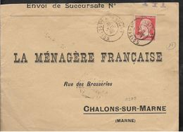 RARE Ambulant SOISSONS à PARIS Sur Pasteur 1925  Ref N° 1299 Pothion INDICE 19 Ambulant Dit De MOBILISATION  ..G - Bahnpost