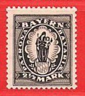 MiNr.190  Xx Altdeutschland Bayern - Bayern