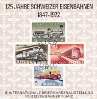 125 Jahre Schweizer Eisenbahnen 1847 - 1972 - Blocks & Kleinbögen