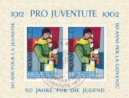 Pro Juventute 1962 : Bloc No  J 199 -  Oblitéré Le 1er Jour D'émission - Gebraucht