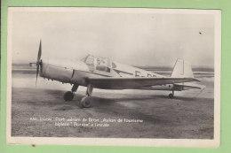 BIPLACE BUCKER, Bû 181  à Lyon Port Aérien De Bron. Avion De Tourisme. 2 Scans. Edition La Cigogne - 1919-1938: Entre Guerres